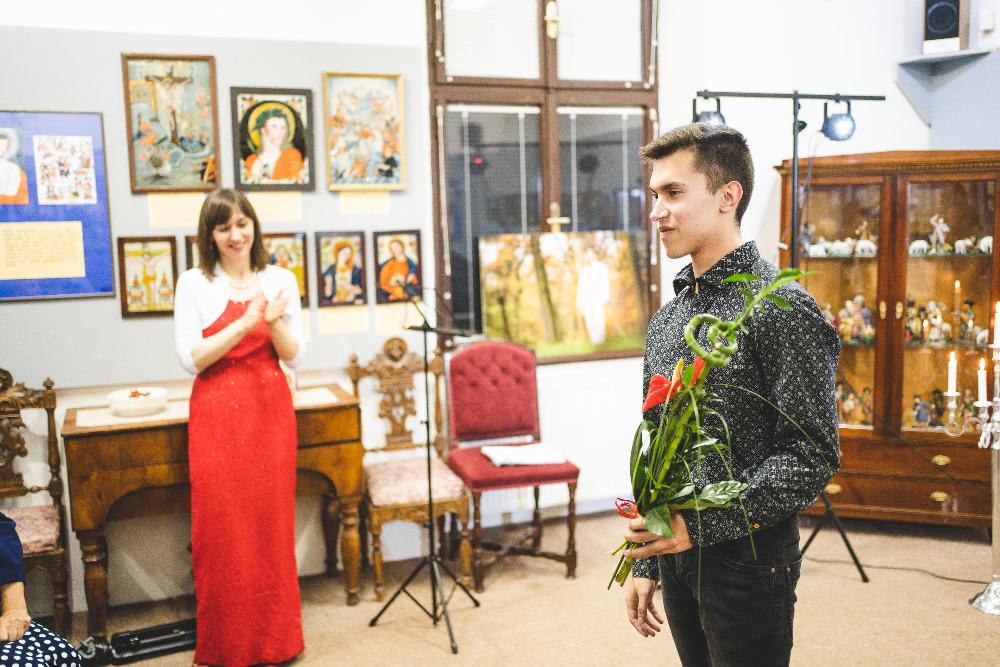 Pavel Vondráček after the Love Stories Tour show in Poděbrady, 2019